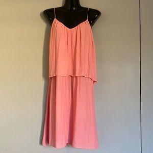 Esprit Peach Knee length Dress Size AU 10 BNWT